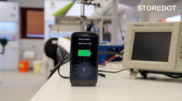 Nova tecnologia promete recarregar smartphone em apenas 30 segundos (Foto: Reprodução/StoreDot)