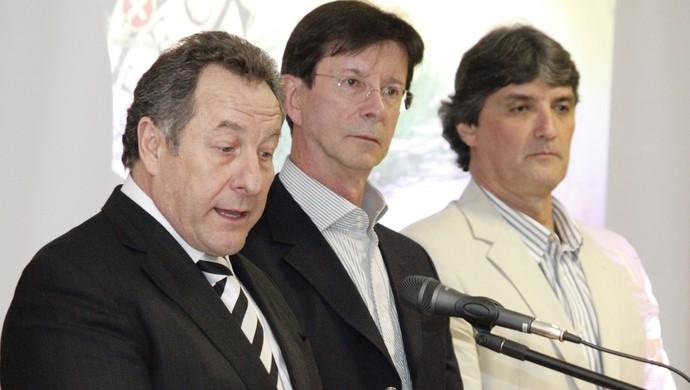 Wilfredo Brillinger, Dario Ferreira da Silva e Rodrigo Otávio Melim Passoni (Foto: Luiz Henrique, divulgação / FFC)