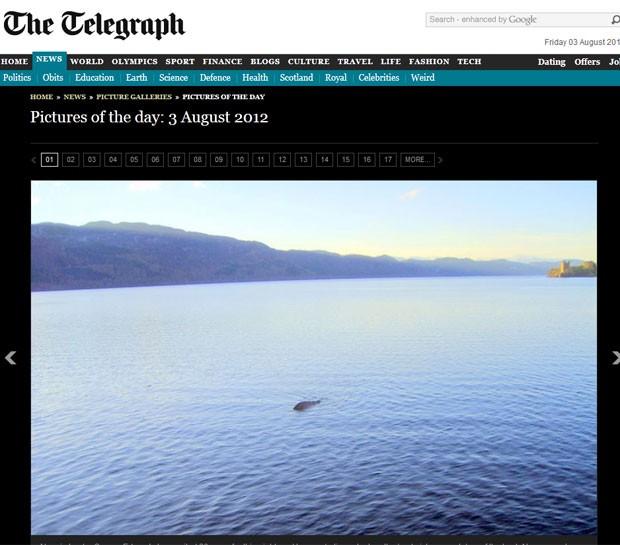 George Edwards diz ter feito foto que comprovaria a existência do monstro do Lago Ness. (Foto: Reprodução/Daily Telegraph)