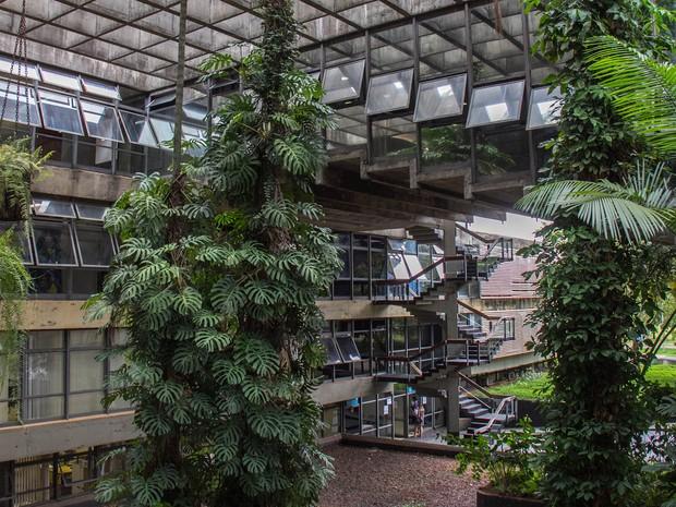 Espaço interno da Reitoria da Universidade de Brasília (Foto: Luis Gustavo Prado/Secom UnB)