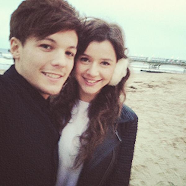Louis Tomlinson do One Direction e a namorada agradida por fãs do cantor (Foto: Reprodução)