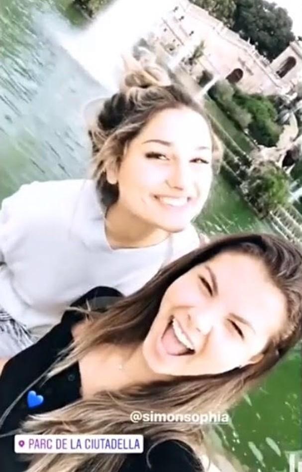 Sasha Meneghel e Sophia Simon (Foto: Instagram/Reprodução)