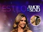 De macacão dourado, Fernanda Lima brilha no Amor & Sexo
