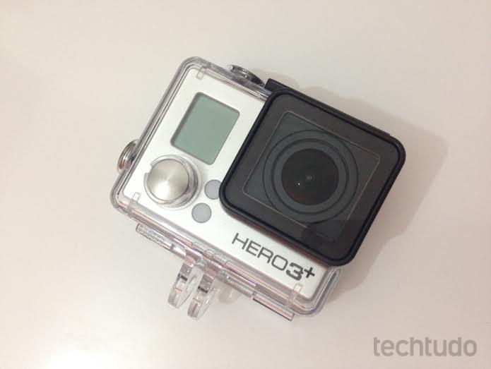 GoPro com a case à prova dágua (Foto: Aline Jesus/TechTudo)