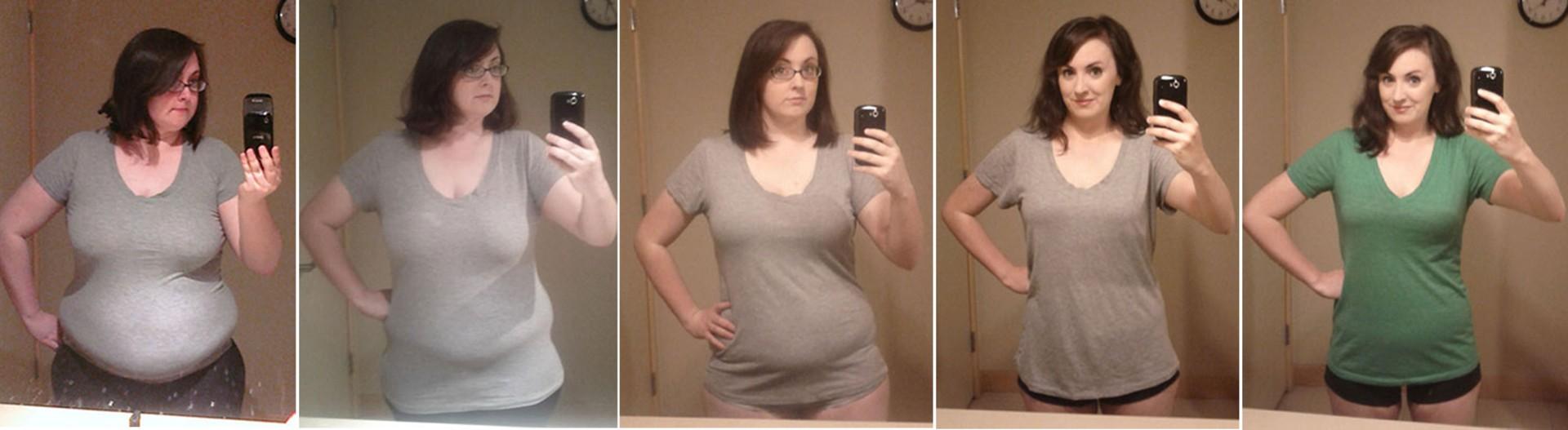 Imagens mostram Amanda, de 26 anos, durante seu processo de emagrecimento (Foto: Reprodução/Reddit/dignityblows)