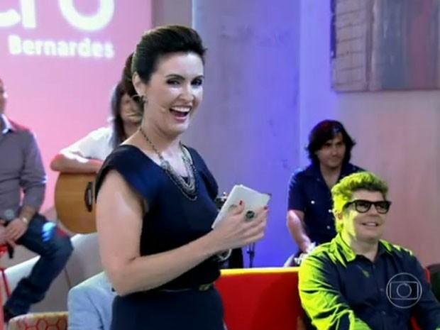 Fátima dança Lepo Lepo (Foto: TV Globo/Encontro com Fátima)