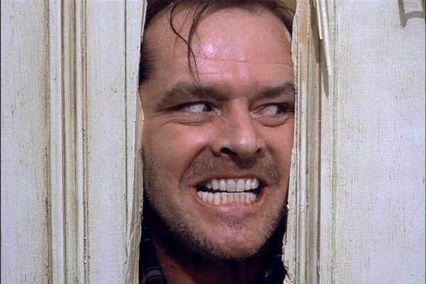 Segunda pesquisa, uma sessão de 'O Iluminado' com Jack Nicholson pode gerar na perda de até 184 calorias (Foto: Reprodução)