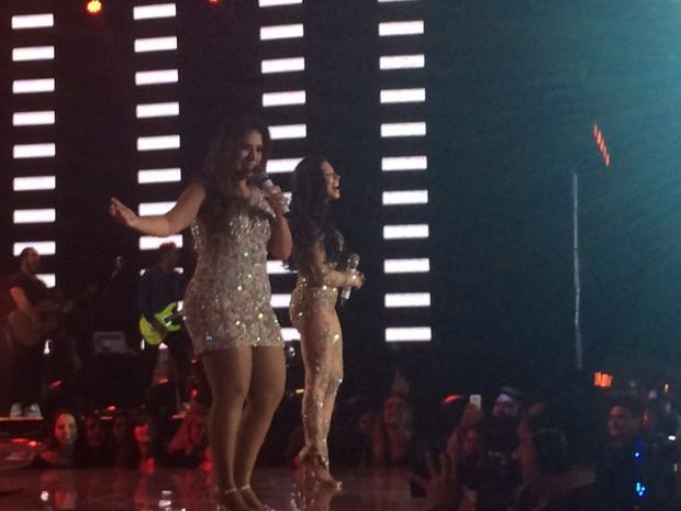 Simone e Simaria gravam DVD em show em Goiânia  (Foto: EGO)