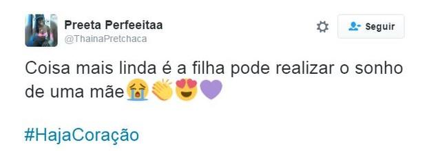 Público comenta o final de Haja Coração (Foto: Twitter / Reprodução)