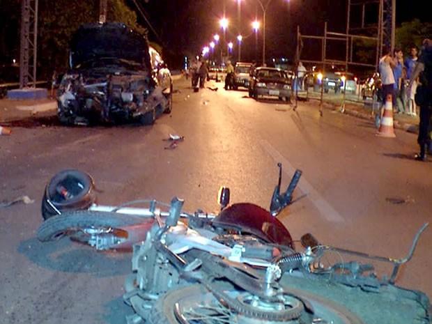 Acidente ocorreu na região da Ponte Nova, em Cuiabá, em 2011 (Foto: Reprodução/ TVCA)