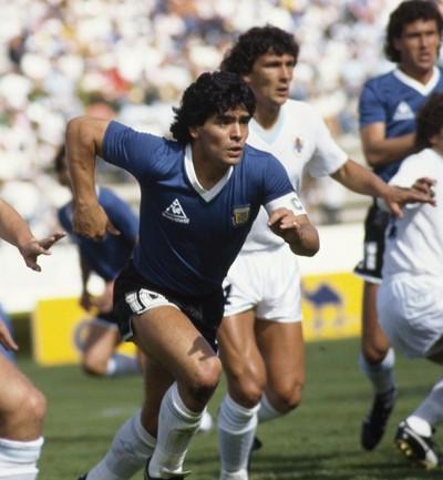 Maradona Argentina x Uruguai 1986 (Foto: Getty Images)