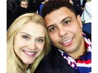 Celina Locks posta selfie com Ronaldo e se declara: 'Te amo'