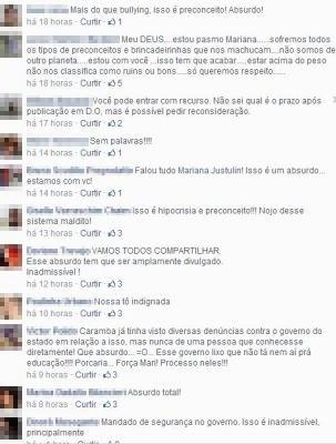 Professora recebeu apoio nas redes sociais  (Foto: Reprodução/ Facebook)