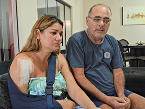 Pais acreditam que acidente foi provocado por indígenas para saquear as peças do carro (Foto: Iryá Rodrigues/G1)