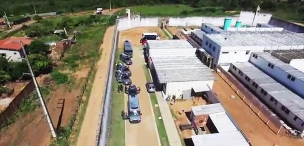 Pavilhão Rogério Coutinho Madruga, em Nísia Floresta; a unidade também é conhecida como Pavilhão 5 de Alcaçuz (Foto: Divulgação/Sejuc)