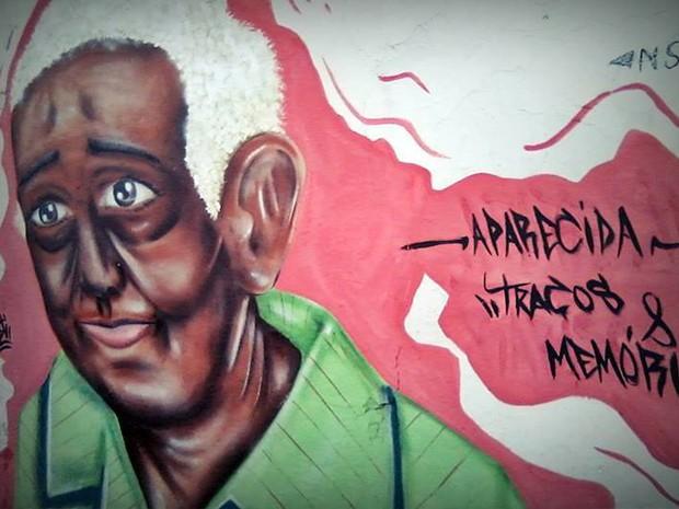 Grafite Traços e Memórias Uberaba Dona Aparecida Hospital do Pênfigo Clayton Tomaz (Foto: Clayton Tomaz/ Arquivo Pessoal)
