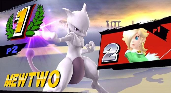 Mewtwo chegou ao Super Smash Bros (Foto: Reprodução/Miiverse)