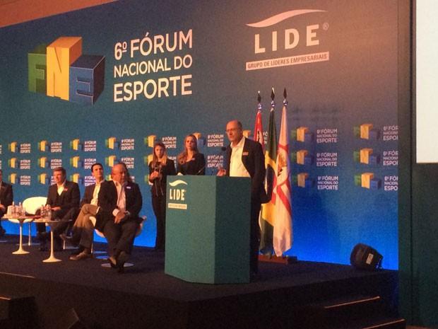 Governador Geraldo Alckmin participou de evento sobre esporte na Zona Sul de SP (Foto: Kleber Tomaz/G1)