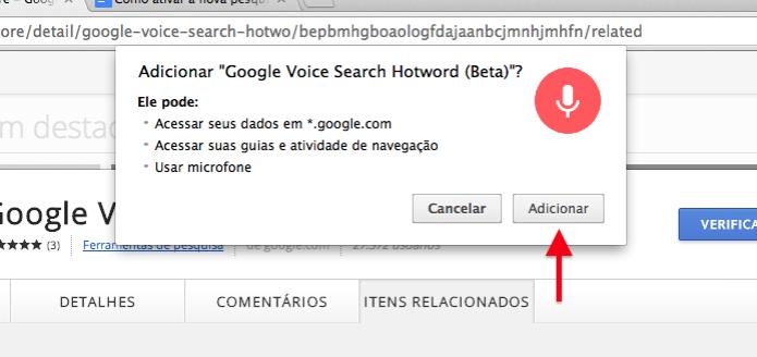 Instalando extensão no Chrome (Foto: Reprodução/Helito Bijora) (Foto: Instalando extensão no Chrome (Foto: Reprodução/Helito Bijora))
