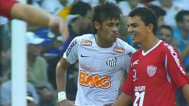 Neymar beijo Ratinho (Foto: Reprodução/SporTV)