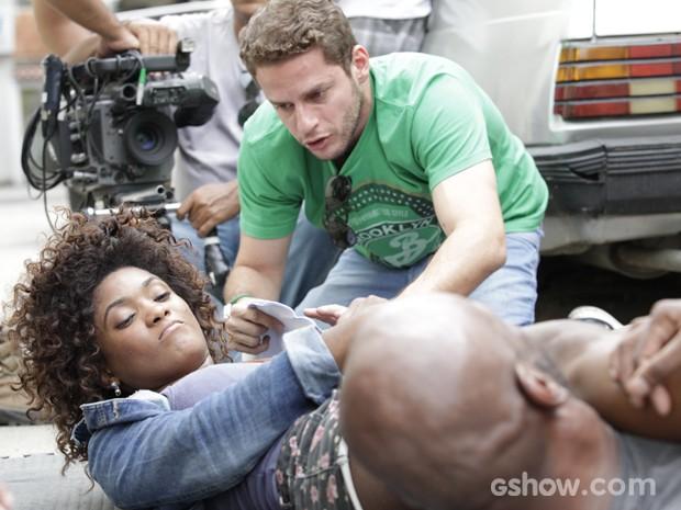 Érika deixa todos sem fôlego ao mostrar o que aprendeu (Foto: Raphael Dias / TV Globo)