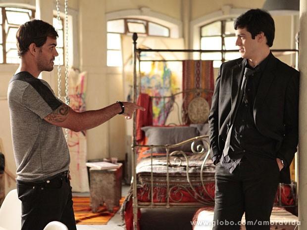 Félix joga para influenciar Ninho (Foto: Pedro Curi/TV Globo)