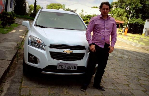 André Prieto é dono de um Chevrolet Tracker (Foto: Aline Magalhães)