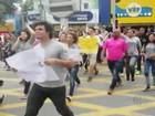 Alunos de Poá fazem protesto contra reorganização escolar