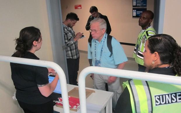 Segurança é reforçada no Maracanãzinho após furtos no Mundial de judô (Foto: Thierry Gozzer)
