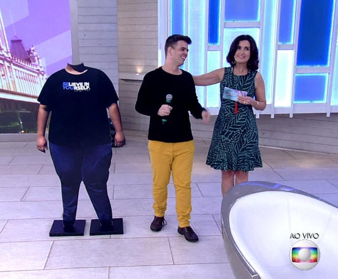 Arandir comia salgadinho frito como se fosse pipoca (Foto: TV Globo)