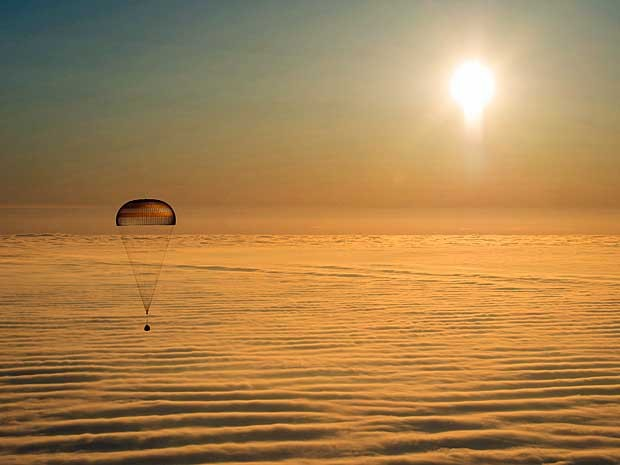 A cápsula Soyuz TMA-14M. (Foto: Bill Ingalls / NASA / via Reuters)