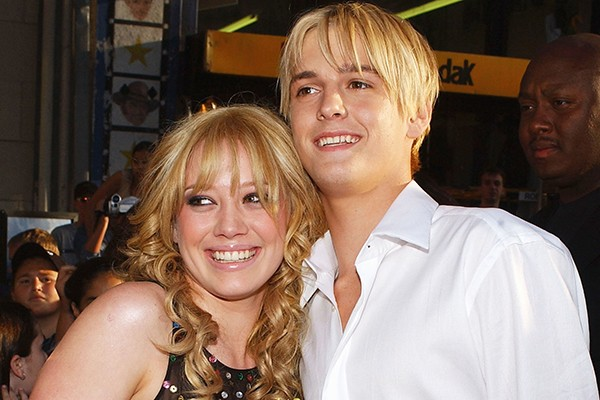 Aaron Carter e Hilary Duff (Foto: Getty Images)