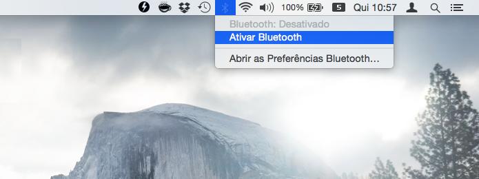 Ative o bluetooth no Mac OS X (Foto: Reprodução/Helito Bijora)