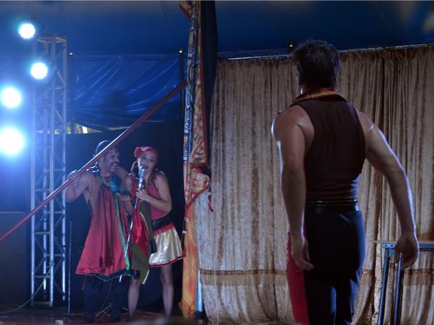 Chocobrothers se apresentam no Festival Mundial do Circo em Caxambu (Foto: Samantha Silva / G1)