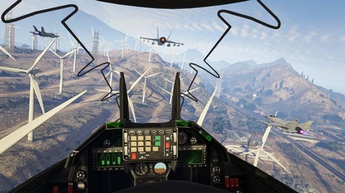 Domine os céus de Los Santos com seus amigos e trave grandes batalhas aéreas em GTA Online (Foto: VG247)