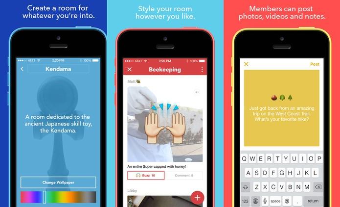 Rooms é o app do Facebook com fóruns de discussão (Foto: Reprodução)