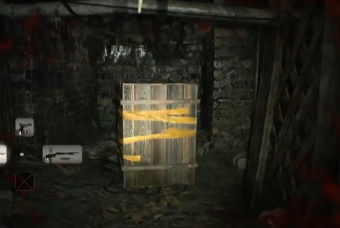 Caixas espalhadas por Resident Evil 7 trazem munição e itens essenciais (Foto: Reprodução/Felipe Demartini)