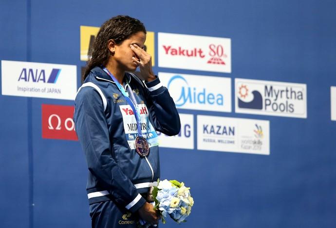 Etiene Medeiros - medalha de prata no Mundial 50m costas (Foto: Satiro Sodré/SMPRESS)