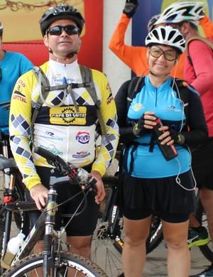 Patrício e Angélica no Pedal Capa da Gaita (Foto: Daniele Lira)