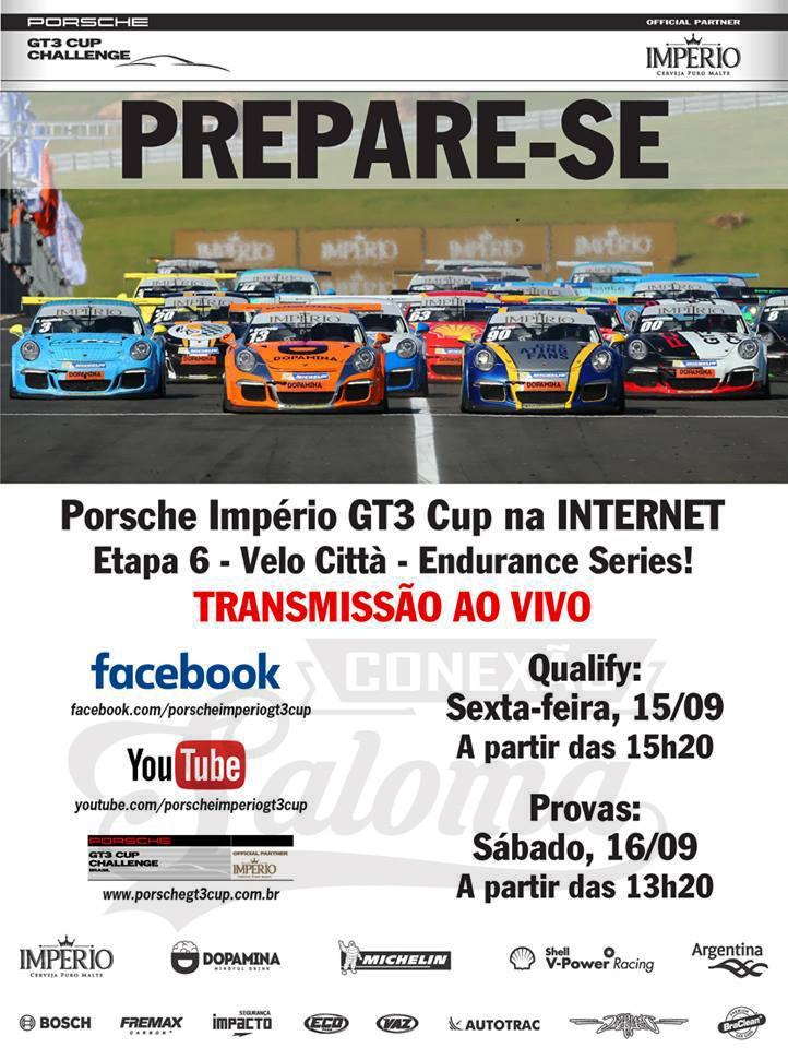 Banner programação Endurance Porsche Império GT3 Cup 2017 (Foto: Divulgação/Luca Bassani/Porsche Império GT3)
