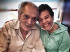 Filho mostra foto de encontro de Lúcio Mauro e Cláudia Rodrigues