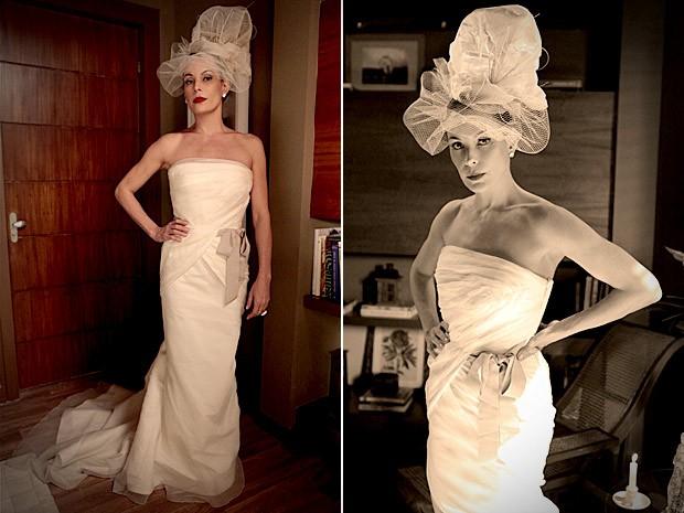 Vestido em formato sereia é de uma renomada estilista norte-americana (Foto: Avenida Brasil / TV Globo)