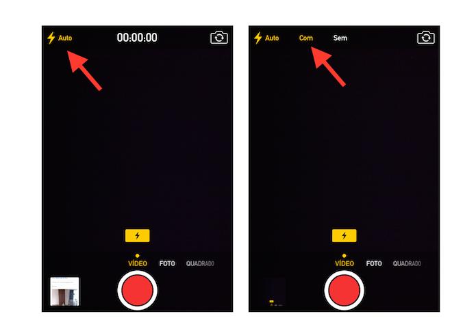 Ligando o flash da camera do iOS para iluminar ambientes (Foto: Reprodução/Marvin Costa)