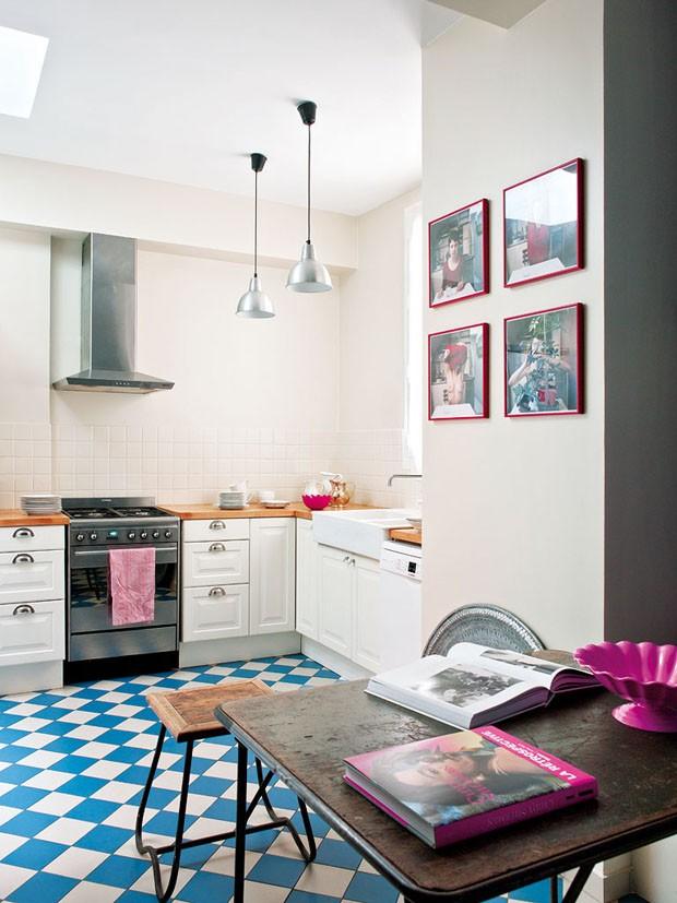 D 233 Cor Do Dia Azul E Rosa Na Cozinha Casa Vogue D 233 Cor