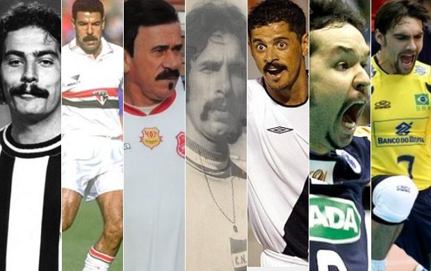 Bigodes; jogadores (Foto: Arte / Globoesporte.com)