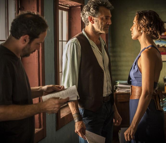 Domingos Montagner é dirigido pelo diretor Philippe Barcinski (Foto: Felipe Monteiro/ Gshow)