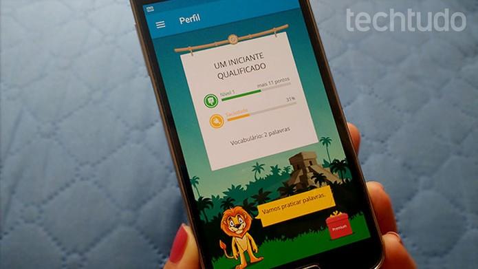 Veja como usar o aplicativo LinguaLeo para aprender inglês pelo celular (Foto: Barbara Mannara/TechTudo)