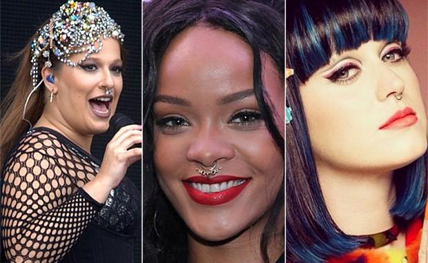 Alice Caymmi, Rihanna e Katy Perry (Foto: Foto Rio News | Divulgação)