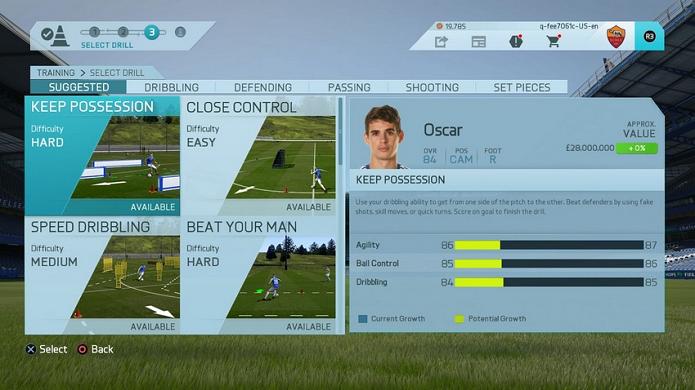 Treinos podem melhorar jogador no Fifa 16 (Foto: Divulgação/EA)
