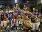 Bianca Leão usa fantasia de ginasta sexy em ensaio da União da Ilha